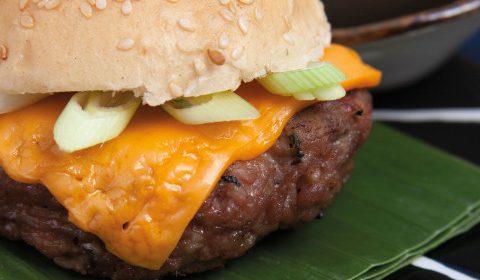Thai pork burger