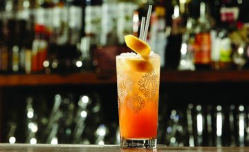 Apricot Cooler (Ginger Beer Cocktail)