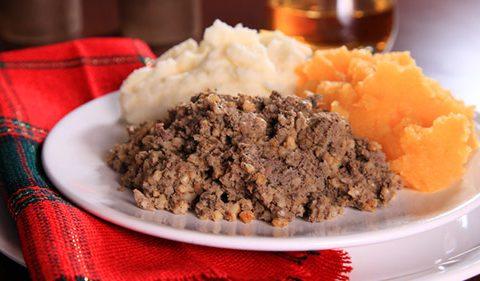 Haggis Caramelised Turnip Purée, Potato Tuille & Whisky Cream - Take Stock Magazine