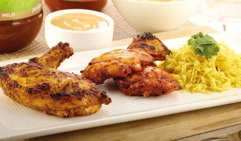 Tandoori & Tikka Combo, Pilau Rice, Poppadom Pieces & Chutney Dip