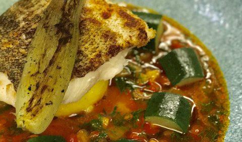 Pan Fried Cod with Bouillabaisse Take Stock recipe