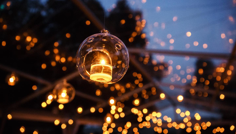 Candle lights outside