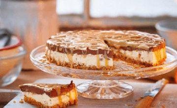Frozen Peanut Millionaire's Cheesecake