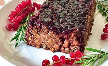 Cranberry, Bean & Lentil Bake