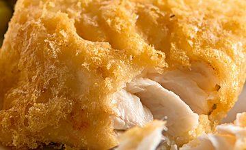 Gluten-Free Battered Cod & Mushy Peas