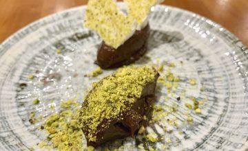 Chocolate Custard, Roasted Pistachio & Meringue