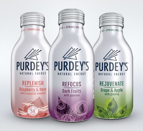 Purdey's new energy drinks