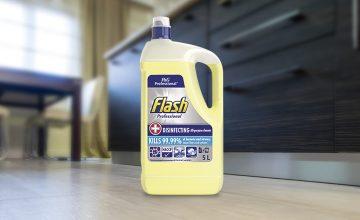 New food contact-safe Flash Professional Cleaner kills coronavirus