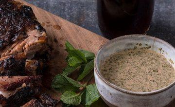 BBQ Lamb Breast & Malt Vinegar Sauce