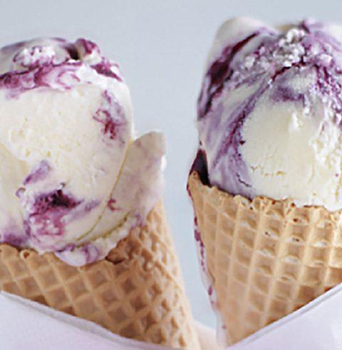 Blackberry ripple ice cream