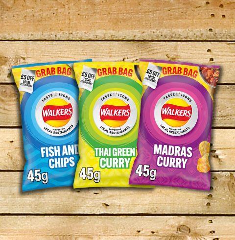Walkers Crisps packs with restaurant promotion