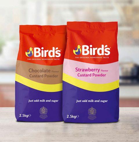 Bird's Strawberry and Chocolate Custard Powder