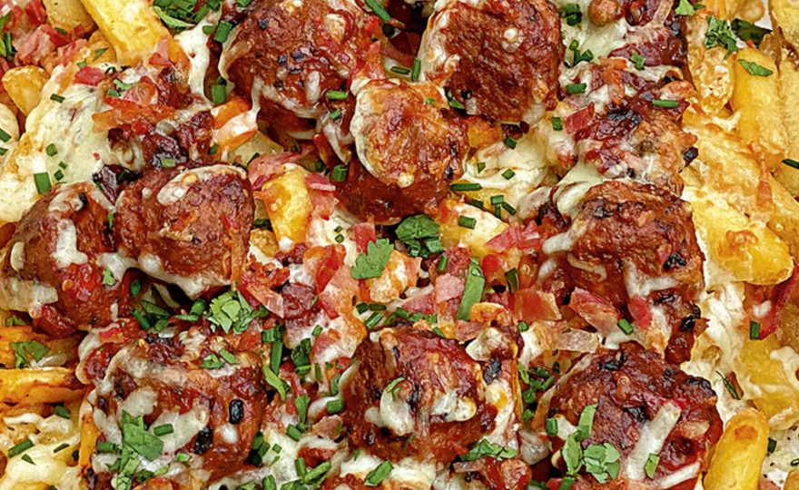 Meatball Marinara Loaded Fries